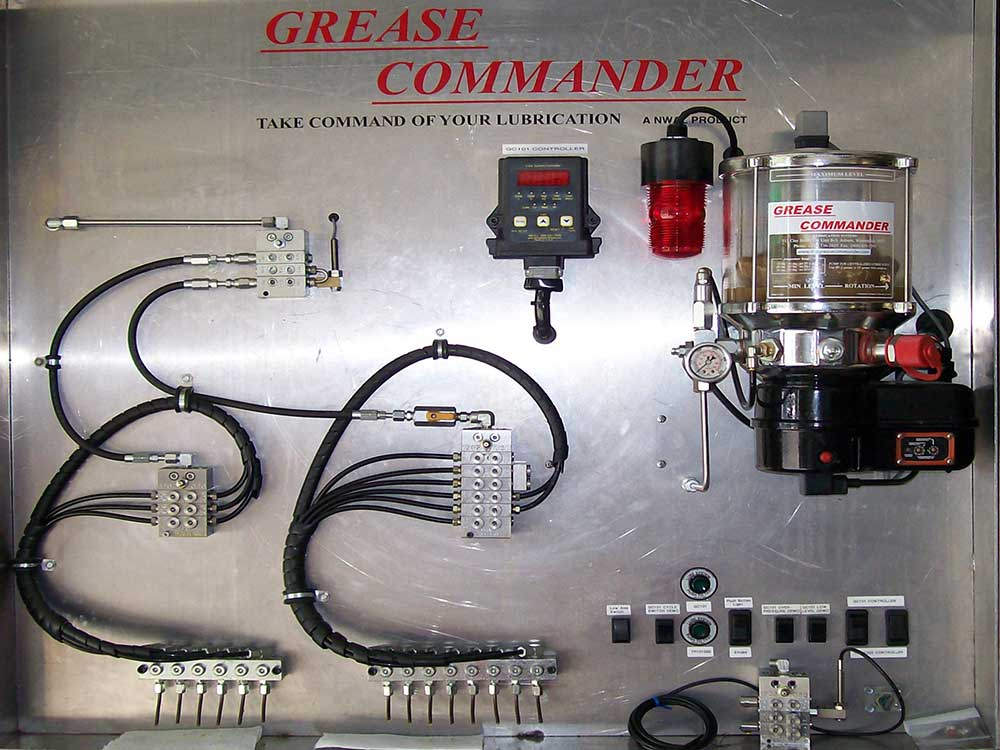 Distribution Block photo of the Grease commander system